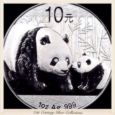 Frosty Gem 2011 1 Oz Chinese Silver Panda Coin .999 Pure 10 yuan