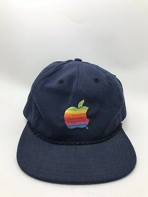 Vintage Apple Computers Macintosh Rainbow Embroidered Logo Cap bf65973daed1