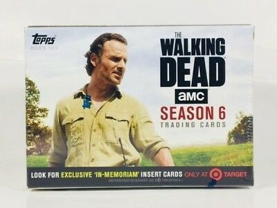 The Walking Dead S6 Target Excl. Trading Card Box - Topps Memoriam Costume Relic