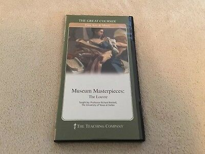 The Great Courses Museum Masterpieces: The Louvre 2 DVD's and Guidebook - NEW