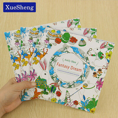 XUES® 24 Pages Fantasy Dream English Edition Coloring Book For Children Adult