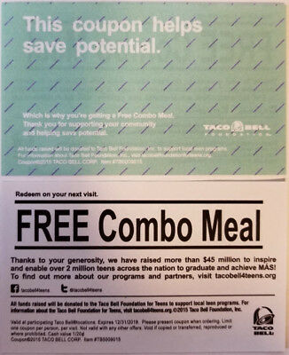 50 Taco Bell Free Combo Meals