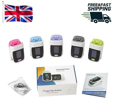 Fingertip Blood Oxygen Meter SPO2 OLED Heart Rate Monitor Oximeter UK Stock