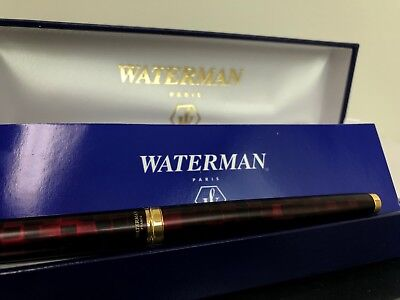 Waterman Carene Amber Shimmer Fountain Pen Solid Gold Fine Point