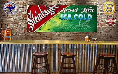 STEINLAGER  MANCAVE BANNER Work Shop Garage Shed Bar Whisky FLAG