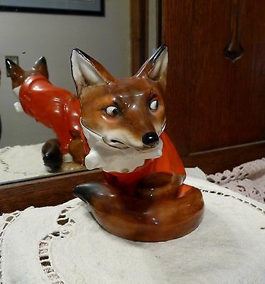 ROYAL DOULTON England HN100 REYNARD The FOX Figurine Red Hunting Jacket - NOKE