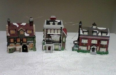 3 Dept 56 Charles Dickens Christmas Ornaments 1992,1994 & 1997