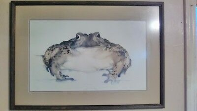 The Toad Within  Art Original Signed Color Pen  Ink Drawing Artist Signed Framed