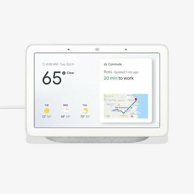 Google GA00516-US Home Hub with Google Assistant - Chalk NEW SEALED SHIPS FAST