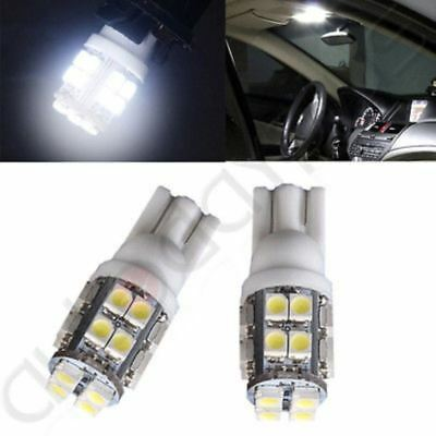 2pcs Ultra White T10 W5W 194 20-SMD Wedge License Plate Interior LED Light Bulbs