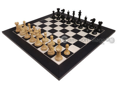 "**NEW! Ebony Wood ""Bourgeois"" Staunton 3x Weighted Chess Men & 22"" Chess Board"