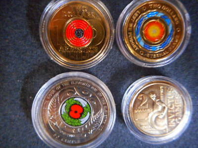 2018 Armistice Red Poppy Invictus Games+Eternal Flame $2 Coin New Release