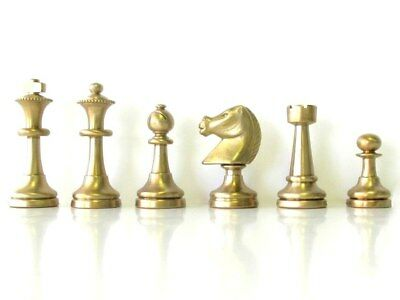 """**NEW!** Italfama Chess Men in Solid Brass - """"Magnificent Baron"""" Weight 3.0 kg"""