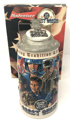 Budweiser Coast Guard 2000 Beer Stein Honoring Tradition & Courage Series