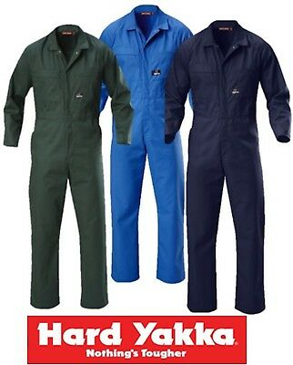 Hard Yakka - Mens Long Sleeve Poly-Cotton Coveralls Overalls - Y00015