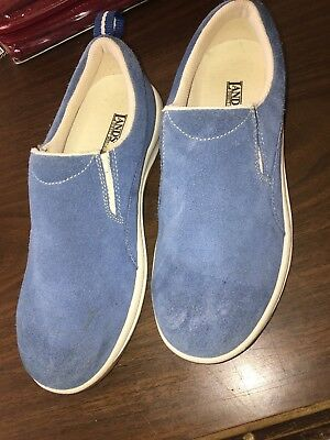 7f3d7ae0a47 LANDS  END Womens Size 7B Blue Suede Slip on Loafers All Weather Shoes