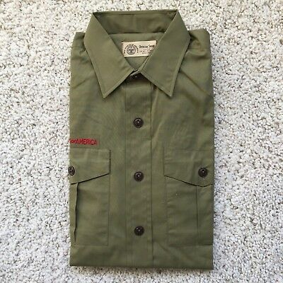 1960s-70s Vintage Boy Scout Uniform Shirt-NEW!!! (Scouts BSA Size 15 S1)