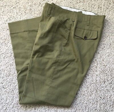 1972-79 Vintage Boy Scout Uniform Trousers (Scouts BSA Size 32w Pants T1)