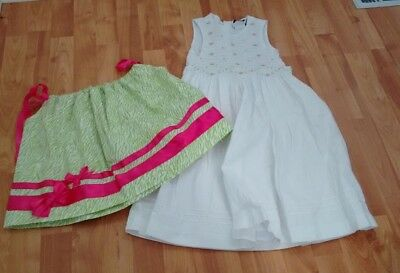 Lot of Two Items of Clothing - One Dress and One Handmade Top Girls Size 5