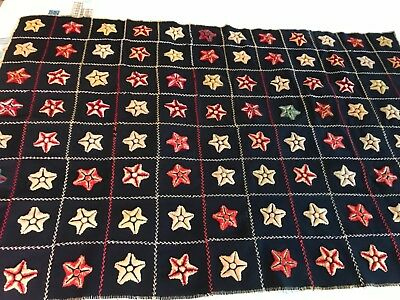 Antique Pennsylvania Stumpwork quilt stars