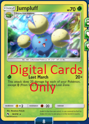(Digital) Jumpluff Lost Thunder for Pokemon PTCGO Online (Digital/In-game)