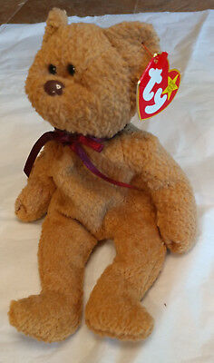 TY Beanie Babies, Curly the bear - retired 1998 - red tag