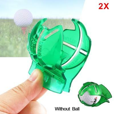 2X Golf Ball Line Clip Marker Pen Template Alignment Marks Tool Putting Aid JS