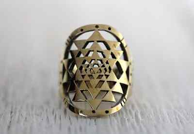 Gorgeous Bahgsu Jewels Cosmos Ring in Brass Size 6