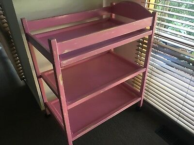Shabby Chic Pink Baby Change Table