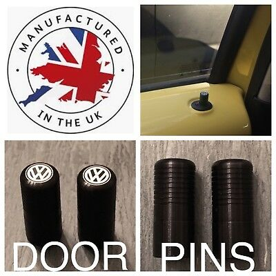 VW Golf Polo Beetle Jetta Caddy Lupo  Passat Boro T5 Black Door Lock Pull Pins