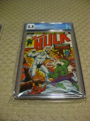 The Incredible Hulk #162 CGC 5.5 FN-  OW to White Pages 1st Wendigo