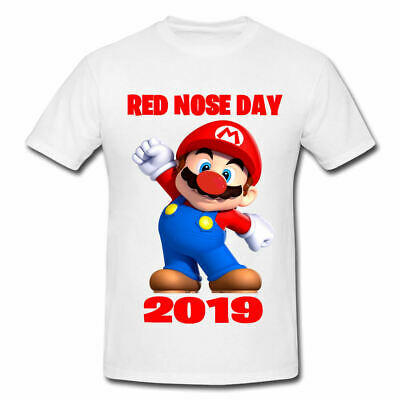Red Nose Day Super Mario 2019 Comic Relief Kids Adults Personalised School