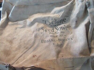 Antique/Vintage Cyclone Seed Sower, 1950s, Hand Crank, Original Instruction Tag