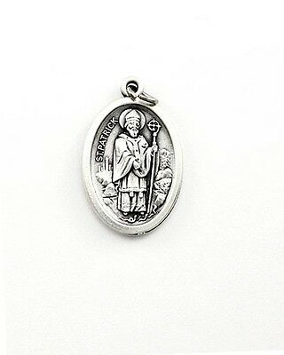 ~Saint Patrick Medal~St Bridget on reverse~NEW~with free 18 inch chain~CATHOLIC~