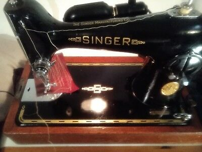 Heavy Duty Vintage Singer 201k electric sewing machine See  it On YouTube