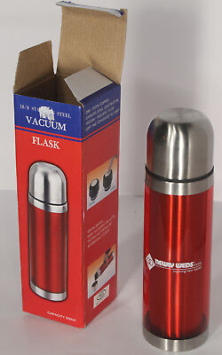 New Stainless Steel Flask Thermos 18/8 SS 16 oz 500 ml Red