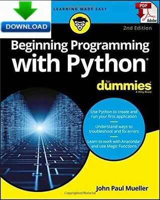 Beginning Programming with Python for Dummies - Read on PC or Phone PDF DOWNLOAD