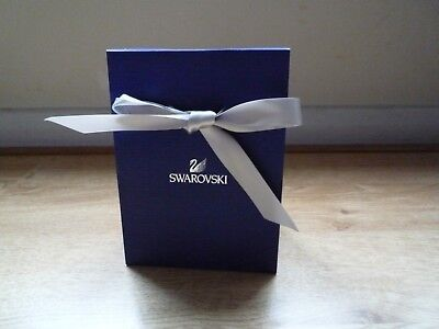 9333d89f19 Swarovski Logo Gift Bag Retail with Ribbon 11.5x7x15.5cm dark blue  Embossing NEW