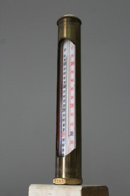 Large Brass Steam Thermometer