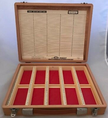 Lovely Vintage Wooden 35mm Photo Slide Storage Box - Capacity 200 Unused Index