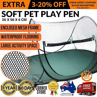 Portable Pop out Pet Dog Puppy Cat Kitten Exercise Gym Playpen Tent Barrier Matt
