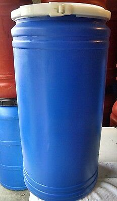 20 Gallon Plastic Food Grade Drum Storage Barrel Removable Lid
