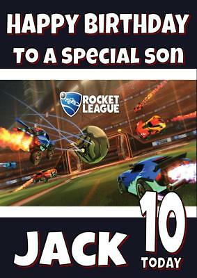 Rocket League Personalised Birthday Card - Any Name, Age, Relation