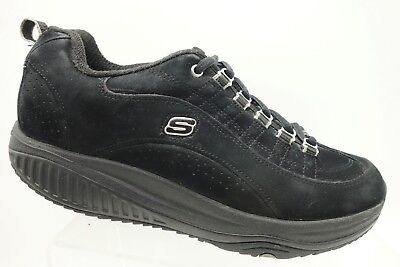 Details about Skechers Shape Ups Black Suede Rocker Toning Shoes 12321 Womens Size 8.5