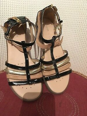 Used girls gladiator sandals by Geox , leather, size 36