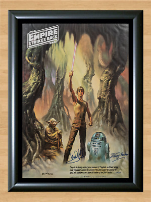 Mark Hamill Kenny Baker Star Wars Signed Autographed A4 Poster Photo Memorabilia