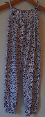 Girls Age 2-3 Blue Mix Responsibly Sourced Cotton Jumpsuit   RRP £14