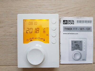 Thermostat d'ambiance programmable filaire Tybox 117 -DELTA DORE- SERVI 1 HIVER