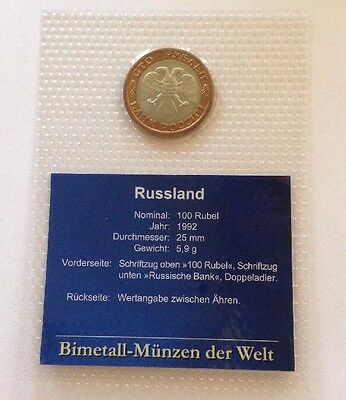 RUSSLAND 100 Rubel 1992 // UNC In Blister