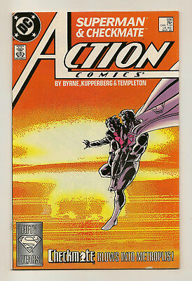 Action Comics #598 (1988--DC--FN+) Superman and Checkmate (FIRST APPEARANCE)